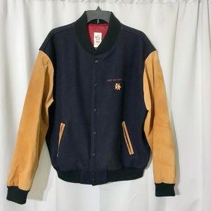Walt Disney Studio Leather Sleeves Varsity Jacket